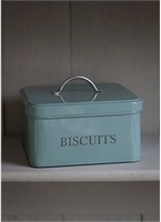 Square Biscuit Tin - Shutter Blue